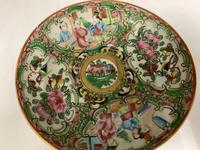 Antique Famille Rose Oriental Porcelain Saucer c.1810 (5 of 5)