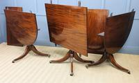 Late 19th Century English Figured Mahogany Triple Pillar Dining Table (12 of 14)