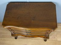 Shaped Walnut Three Drawer Table - Waring & Gillow (7 of 12)