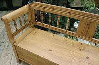 Lovely Old Victorian Hungarian Box/ Storage/ Hall Bench (3 of 12)