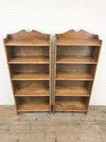 Pair of Early 20th Century Oak Bookcases (2 of 10)