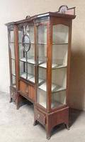 Edwardian Carved Mahogany Display Cabinet / China Cabinet (5 of 13)