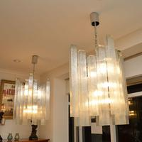 Pair of Large Vintage 1960's Glass Chandeliers by Doria Leuchten (9 of 11)