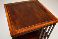Antique  Edwardian Inlaid Mahogany Revolving Bookcase (5 of 7)
