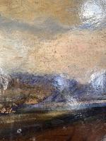 Antique Large Impressionist Landscape Oil Painting in Opulent Frame (5 of 10)