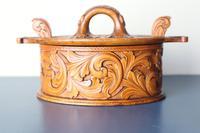 Scandinavian / Norwegian 'Folk Art' Baroque / Acanthus Carved Tine Box c.1910 (6 of 39)