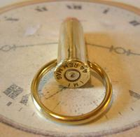 Vintage Pocket Watch Chain Bullet Casing Fob Brass & Copper 44 REM MAG IMI (5 of 6)