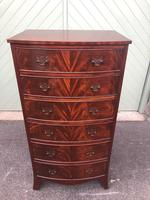Antique Mahogany Slim Chest of Drawers
