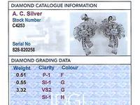 4.39ct Diamond & Platinum Earrings - Art Deco - Vintage c.1940 (8 of 9)