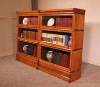 Pair Of Low Stacking Bookcases In Light Oak Globe Werknicke Late 19th Century (10 of 10)