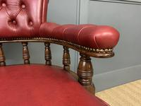 Victorian Leather Upholstered Revolving Desk Chair c.1885 (11 of 16)
