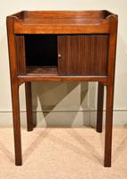 George III Tambour Fronted Bedside Table / Commode (2 of 7)