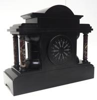 Amazing Mappin & Webb French Slate & Marble Mantel Clock 8 Day Striking Mantle Clock (4 of 10)