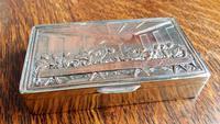 Rare French F Morel Solid Silver Last Supper Scense Lud Snuff Box (13 of 18)