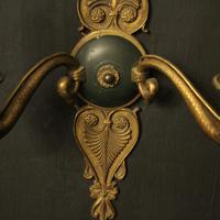 French Pair of Gilded Empire Antique Wall Lights (9 of 10)
