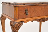 Antique Burr Walnut Leather Top Writing Table / Desk (7 of 10)