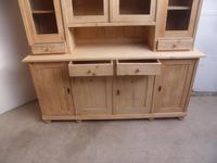 Cracking 4 Door Antique Pine Large Glazed Kitchen Dresser to paint / wax (5 of 8)