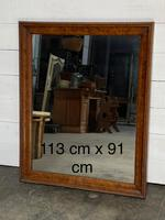 19th Century French Burr Walnut Wall Mirror (18 of 19)