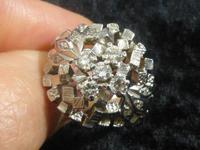 Platinum & Diamond Cocktail Ring (4 of 7)