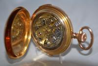18k Quarter Repeat Chronograph Gents Pocket Watch (5 of 6)