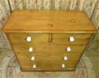 Antique Stripped Pine Chest of Drawers (9 of 9)