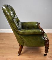 William IV Hand Dyed Leather Armchair (3 of 12)