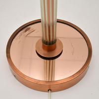 Art Deco Copper & Glass Vintage Floor Lamp (6 of 10)