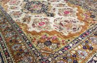 Antique Kashmir Silk Carpet (3 of 8)