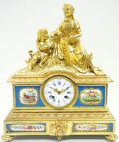 Antique 8 Day Ormolu Mantel Clock Sevres Mother & Child French Mantle Clock (11 of 16)