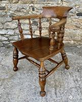 Antique Elm Captains Chair or Smokers Bow (3 of 14)