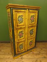 Vintage Indian Folk Art Bohemian Painted Cabinet Larder Linen Press Cupboard (6 of 13)