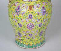 19th Century Chinese Porcelain Vase Famille Jaune (3 of 10)