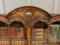 Burr Walnut Dome Topped Bookcase (3 of 18)