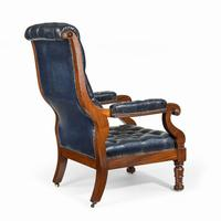 Pair of William IV Mahogany & Leather Upholstered Armchairs (6 of 11)