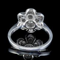 Antique Edwardian Diamond Daisy Cluster Ring Platinum 2ct of Diamond c 1910 (2 of 5)