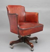 Mid 20th Century Leather Swivel Desk Chair