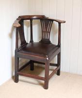 George III Country Elm Corner Chair (2 of 5)