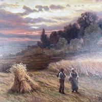 Antique Victorian Large Landscape Oil Painting in Ornate Gilt Gesso Frame Signed H Jones (6 of 10)