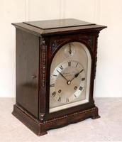 Oak Bracket Clock Supplied By Harrods (5 of 11)