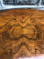 Antique Nest of 3 Figured Walnut Tables (3 of 7)