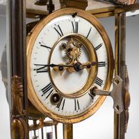 Antique Mantel Clock, French, Gilt Bronze, Ormolu, Brocot Escapement, Circa 1900 (7 of 12)