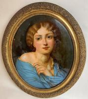 A 19th Century Oval Crystoleum Portraits