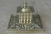 Fine William Large William Tonks & Sons Brass Inkwell c.1890 (5 of 6)