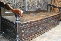 Georgian Oak Hall Bench (6 of 8)