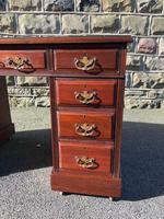 Antique Mahogany Pedestal Desk (3 of 12)