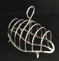 Art  Nouveau Silver Plated 7 Bar Toast Rack (2 of 5)