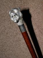 Vintage Hallmarked 925 Silver Walking Stick / Cane With Snarling Tiger Handle 91cm (4 of 21)