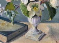 Fabulous Original 20th Century Floral Still Life Study Oil on Board Painting (7 of 11)