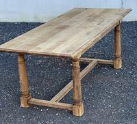 Rustic Bleached Oak Farmhouse Dining Table (16 of 25)