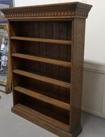 Arts & Crafts Open Oak Bookcase with Secret Compartment (4 of 7)